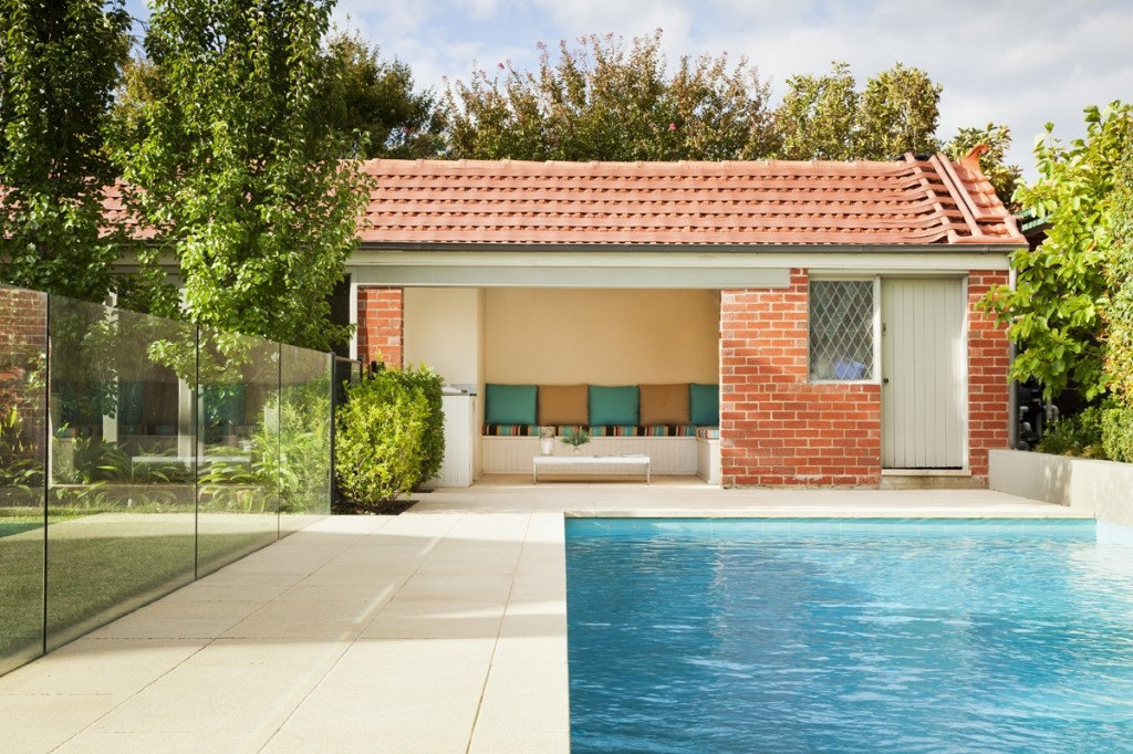 A fully installed Venetian Solar pool heating system heating a Perth pool - Call Pool Solar & Spa to install one of your own